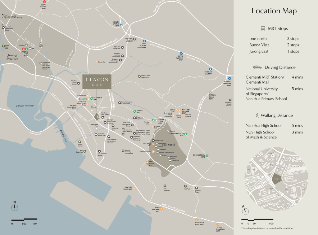Clavon Location Map Official