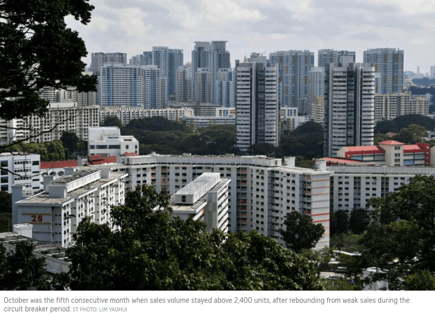 HDB resale prices rise for 4th month amid sales volume dip